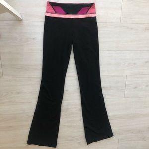 Lululemon flare leggings pants pink 2